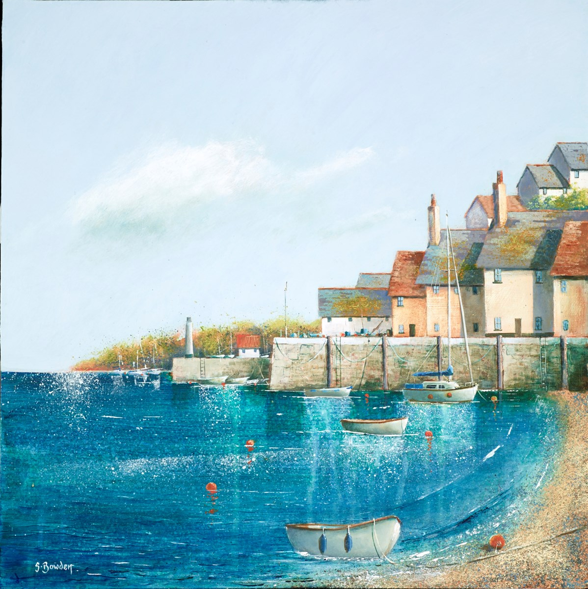 Harbour Beach I by steve bowden -  sized 16x16 inches. Available from Whitewall Galleries